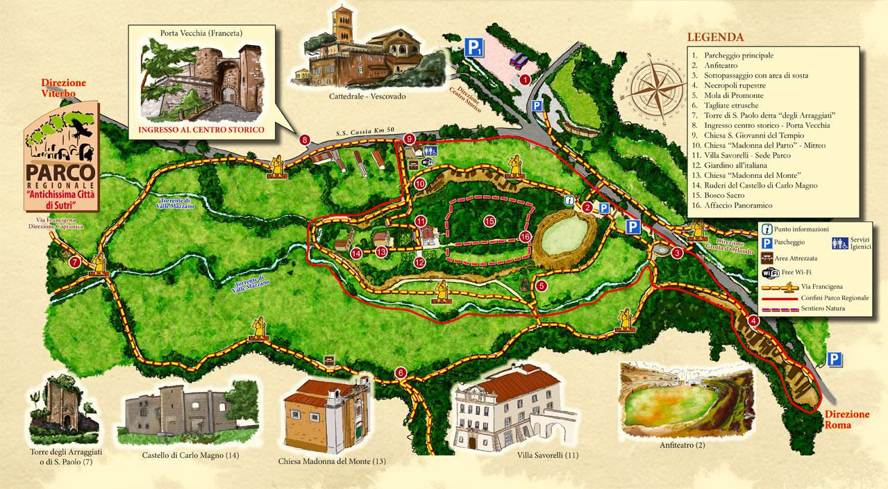 Piantina del Parco